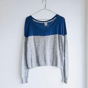 Roxy Blue/Grey Cropped Pullover Sweater  XL
